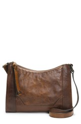 Frye Melissa Leather Crossbody Bag Beige Dark Brown