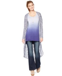 Wendy Bellissimo Maternity Open Front Cardigan Blue