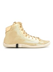 Osklen Hi Top Panelled Sneakers Metallic