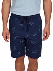 Hymn Shiver Shark Printed Shorts Navy