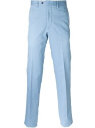 Mp Massimo Piombo Tailored Trousers Blue