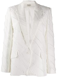Zadig And Voltaire Decorative Trim Blazer White