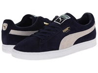 Puma Suede Classic Peacoat White Men's Shoes Blue
