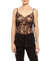Josie Natori Unlined Chantilly Lace Camisole Black