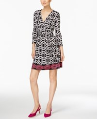 Inc International Concepts Petite Geo Print Wrap Dress Only At Macy's