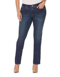 Rafaella Plus Cotton Blend Skinny Denim Blue