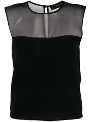 Federica Tosi Sleeveless Knitted Top Black