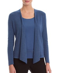 Nic Zoe Petites Four Way Lightweight Cardigan Blue Opal