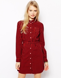 Fred Perry Gingham Shirt Dress