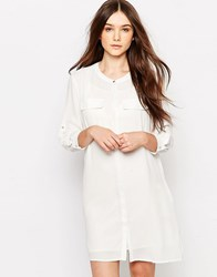 Vero Moda Long Line Shirt White