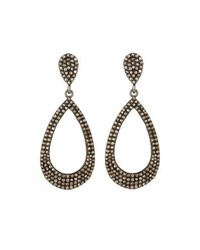 Bavna Pave Champagne Diamond Teardrop Earrings Multi