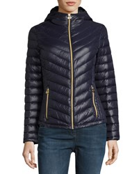 Michael Michael Kors Packable Quilted Jacket W Hood Navy