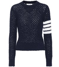 Thom Browne Wool Blend Sweater Blue