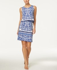Charter Club Paisley Print Tiered Dress Only At Macy's Bright White Combo