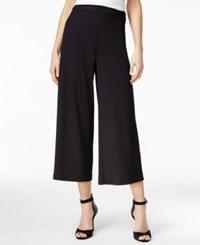 Kensie Cropped Wide Leg Pants Black