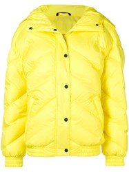 Perfect Moment Buttoned Puffer Jacket Yellow