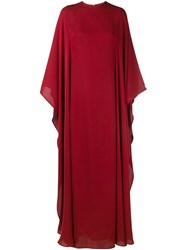 Valentino Cape Back Gown Red