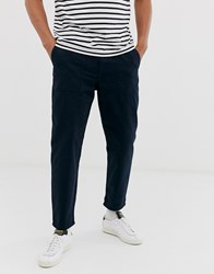 Tom Tailor Relaxed Fit Worker Chino In Navy