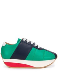 Marni Chunky Lace Up Sneakers Green
