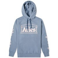 Aries 2 Chains Logo Hoody Blue