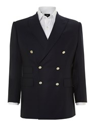 Chester Barrie Classic Double Breasted Blazer Navy