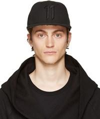 11 By Boris Bidjan Saberi Black Logo Cap