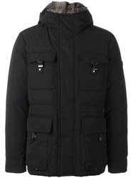 Peuterey Flap Pockets Hooded Jacket Black