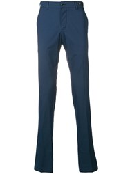 Pt01 Micro Check Trousers Blue