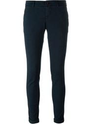 Fay Cuff Trousers Blue