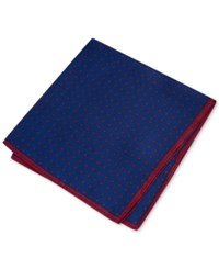 Club Room Men's Dot Pocket Square Only At Macy's Red Navy
