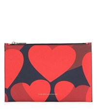 Victoria Beckham Small Simple Printed Pouch Red