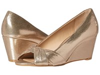 Nina Edelia Taupe Refletive Suedette Women's Wedge Shoes Gold