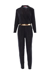 Maiocci Draped Jumpsuit Black