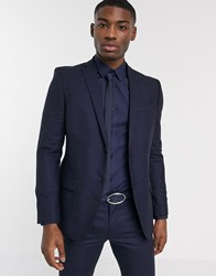Ben Sherman Navy Plain Slim Fit Suit Jacket
