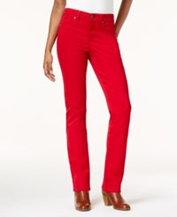 Style And Co Tummy Control Straight Leg Jeans Created For Macy's New Red Amore