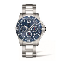 Longines Hydro Conquest Chronograph Watch Unisex Blue
