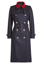 The Kooples Wool Trench Coat Blue