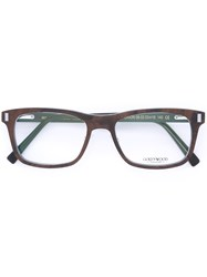 Gold And Wood 'Orion' Glasses Brown