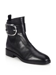 Alexander Wang Bara Buckled Leather Ankle Boots Black