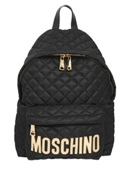 Moschino Quilted Nylon Backpack With Logo