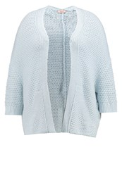 Triangle Cardigan Blue Melange Light Grey
