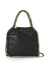 Stella Mccartney Falabella Mini Faux Suede Cross Body Bag Black