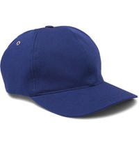 A.P.C. Louis Stretch Cotton Twill Baseball Cap Cobalt Blue