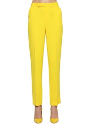 Ralph Lauren Cropped Straight Leg Crepe Cady Pants Yellow