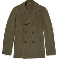 Massimo Alba Wool Peacoat Green