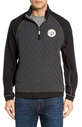 Tommy Bahama Men's 'Nfl Gridiron' Quarter Zip Pullover Steelers