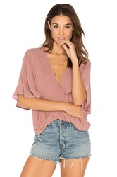 Blue Life Waterfall Blouse Pink
