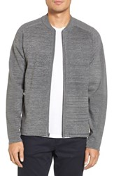 Zella Tech Sweater Baseball Jacket Grey Obsidian Spacedye