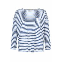 People Tree Elba Blue Striped Top