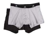 Adidas Sport Performance Climalite 2 Pack Trunk Aluminum 2 Black Men's Underwear Gray
